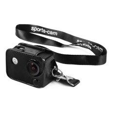 Amkov Leather Camera Case Bag Cover with Lens Cap Kit for SJCAM SJ4000