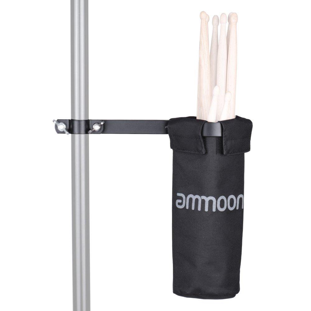 Review Ammoon Dudukan Tas Stik Drum 600D With Paduan Aluminium Penjepit For Stan Drum Internasional Oem