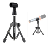 Ammoon Ms 12 Mini Lipat Yg Dpt Mengatur Desktop Stan Mikrofon Tripod With Mc5 Braket For Dudukan Klip Mikrofon Rapat Kuliah Podcast Internasional Original