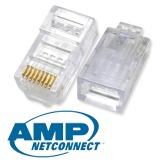 Diskon Amp Modular Plug Rj45 Cat 5E Konektor 50Pcs Branded