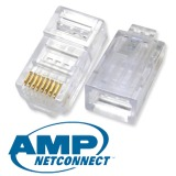 Amp Modular Plug Rj45 Cat 5E Konektor 50Pcs Murah