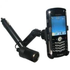 Amzer Lighter Socket Mount with Power Dongle for BlackBerry Pearl 8100, 8110, 8120, and 8130 - Black