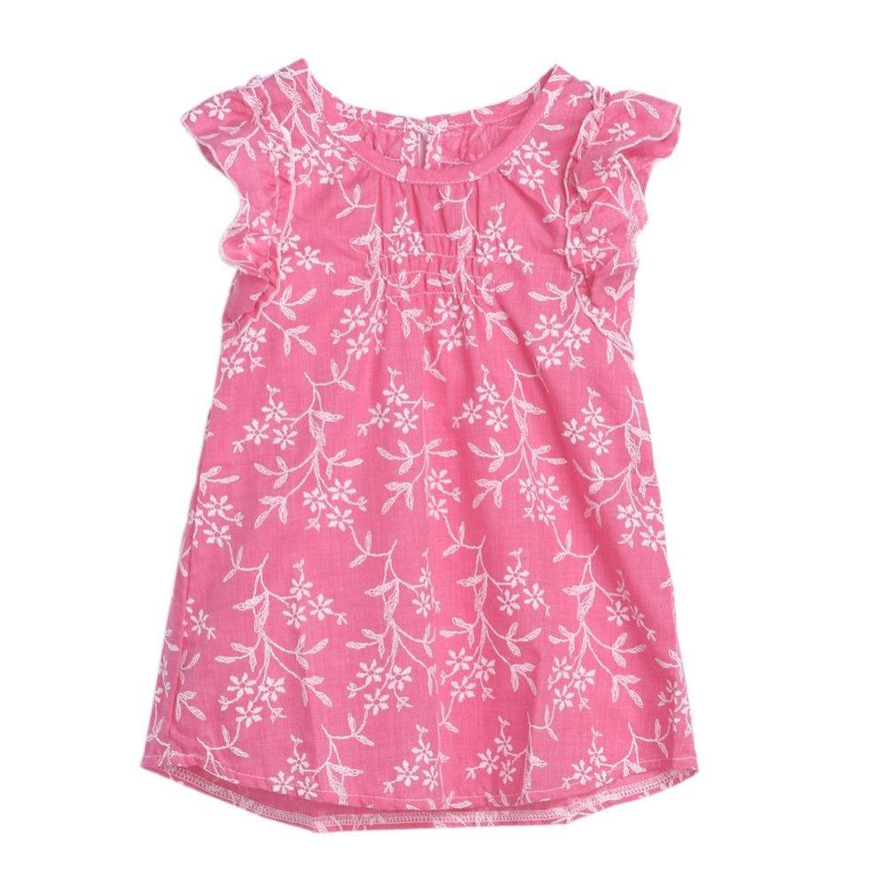 Harga Anak Anak Bayi Perempuan Musim Panas Pantai Floral Gaun Putri Partai Kontes Gaun Merah Muda Intl