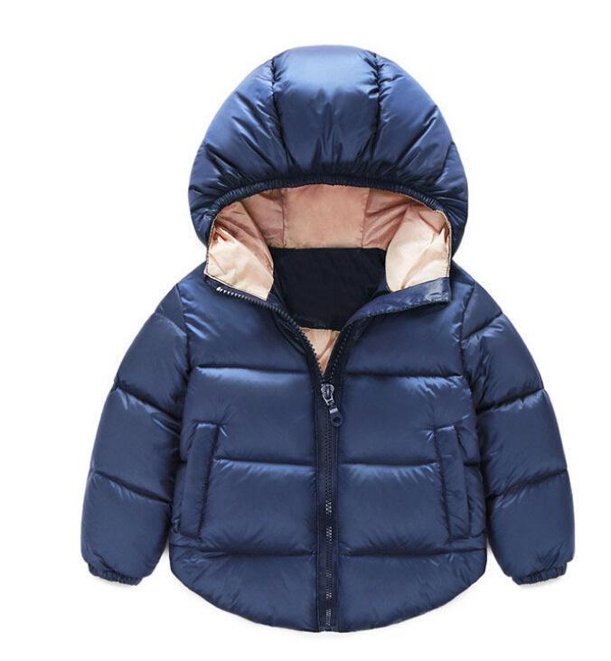 Anak-anak Clothesboy Gadis Musim Dingin Hooded Cotton Jaket Mantel Pakaian Bersepeda-Intl