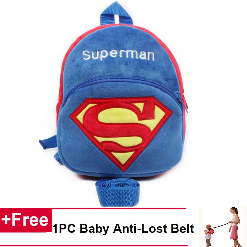Spesifikasi Anak Bayi Balita Penjaga Berjalan Sabuk Pengaman Tali Tas Ransel Superman Intl