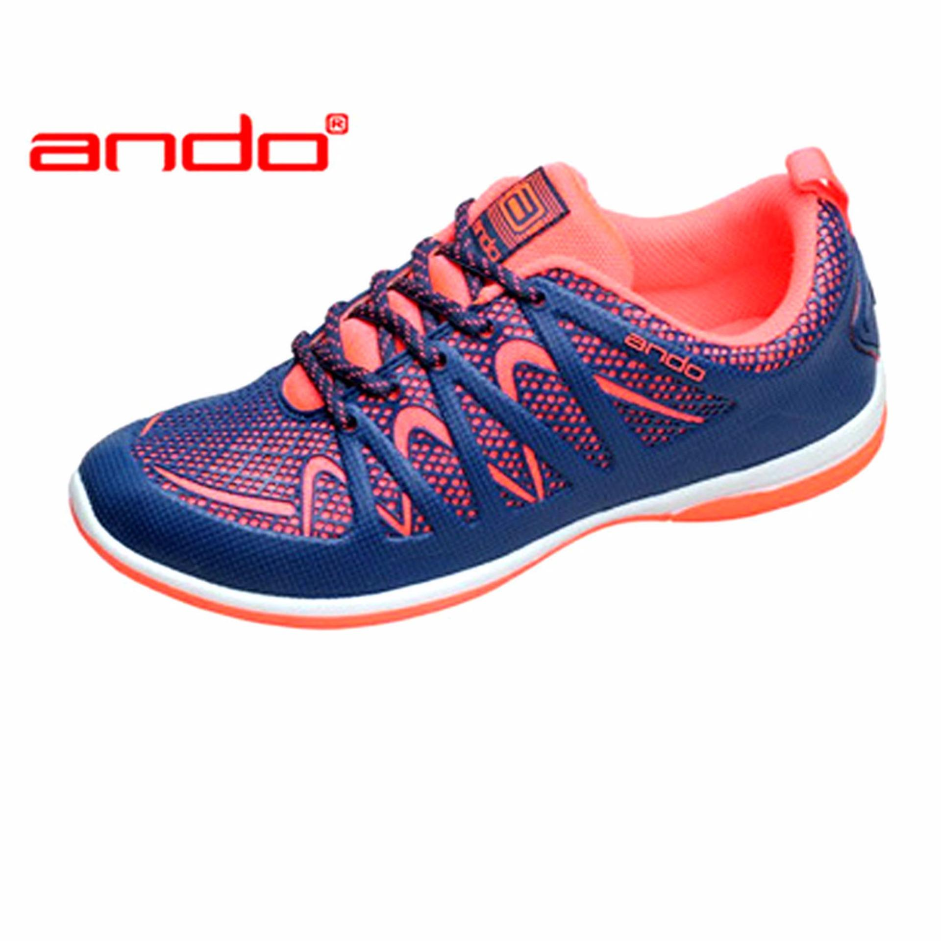 Toko Ando Kimmy Sepatu Olahraga Warna Navy Orange Online Di Indonesia