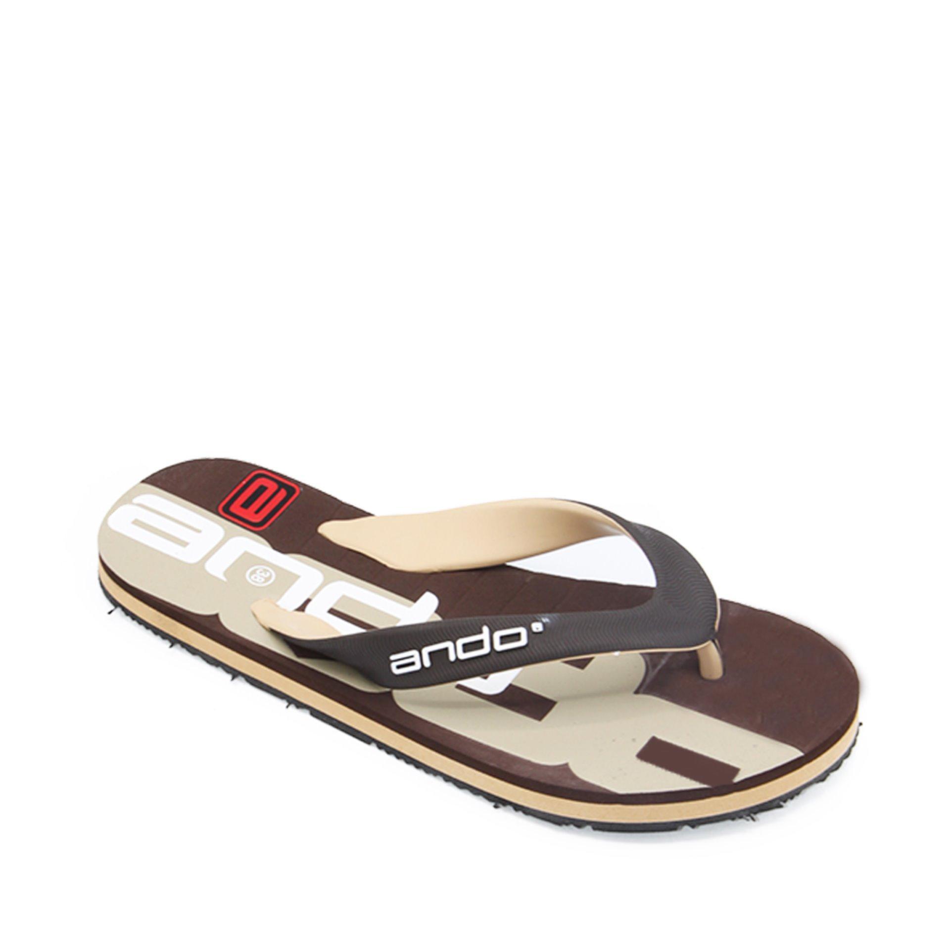 Harga Ando Sandal Jepit Super Grang 06 Brown Tan Size 38 42 Baru