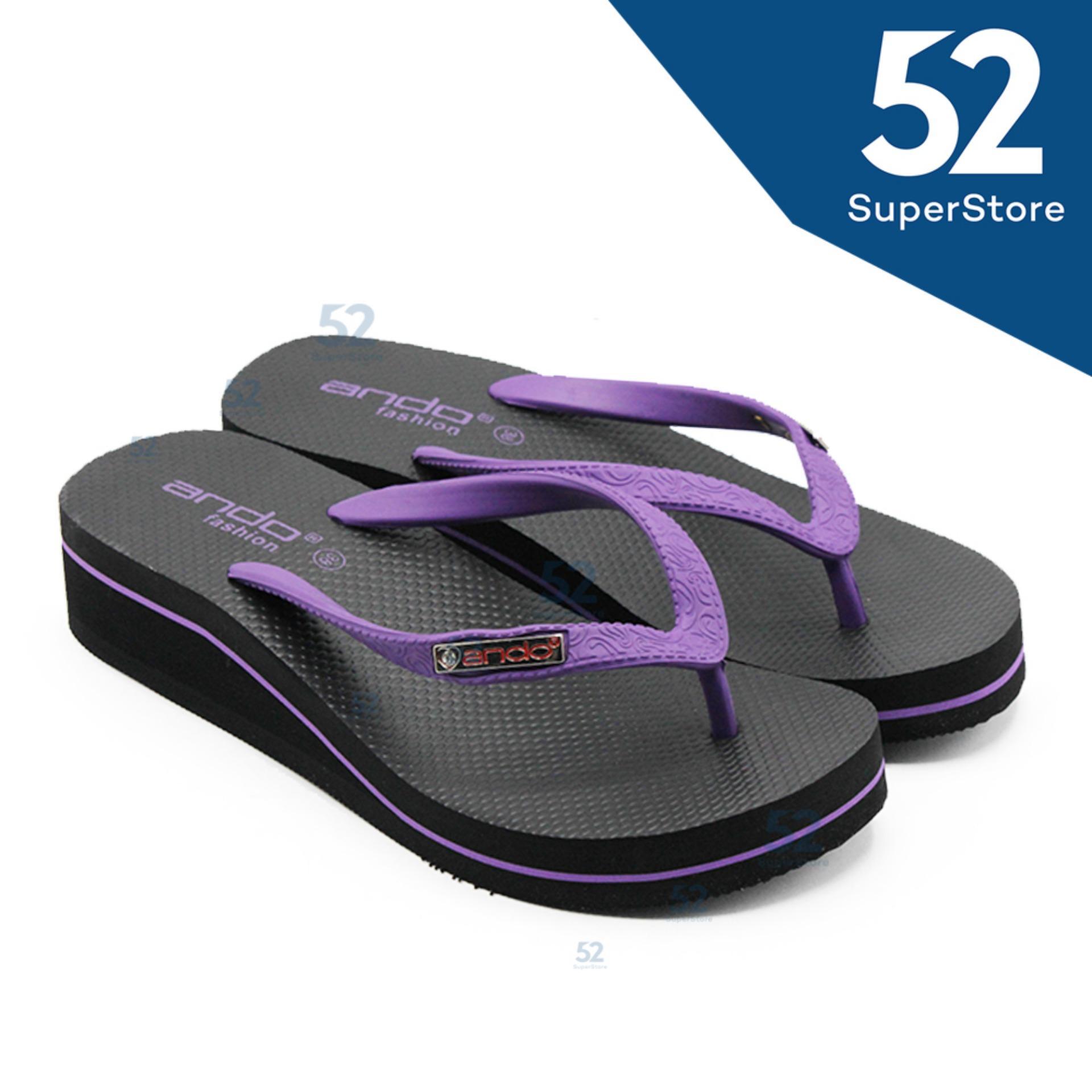 Spesifikasi Ando Sandal Jepit Flip Flop Wedges Wanita Nice Queen 02 Purple Ukuran 36 40 Murah Berkualitas