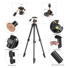 Andoer 124 Cm/6ft Portabel Paduan Aluminium Ringan Tripod Kamera Perjalanan Berdiri dengan Bola Kepala Lempeng Rilis Cepat untuk Canon Nikon Sony DV- internasional