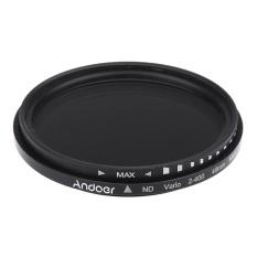 Diskon Produk Andoer 49 Mm Nd Fader Netral Dapat Disesuaikan Kepadatan Nd2 Untuk Nd400 Variabel Filter Untuk Canon Nikon Dslr Kamera