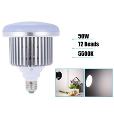 Andoer 50 W 5500 K 72 Manik-manik E27 Socket Photo Video Studio Continuous Daylight Fill-in Softbox Lampu Fotografi Light Bulb untuk DSLR Kamera & Smartphone Shooting-Intl