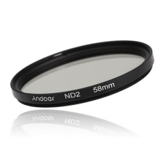 Andoer 58 Mm Fader ND Perlengkapan Filter Density Netral Fotografi Set Filter (ND2 ND4 ND8) untuk Nikon Canon Pemberontak T5i T4i EOS 1100D 650D 600D DSLR-Intl