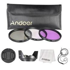 Review Andoer 58Mm Filter Kit Uv Cpl Fld Nylon Tas Kantung Kecil Lens Cap Lens Cap Holder Penutup Lensa Lensa Kain Lap Intl Andoer
