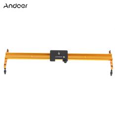 Andoer 60 Cm Video Lagu Penggeser Dolly Trek Rel Stabilisator Aluminium Paduan Untuk Canon Nikon Sony Kamera Asli