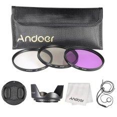 Promo Andoer 67Mm Kit Filter Uv Cpl Fld Nilon Membawa Kantong Cap Tutup Lensa Dudukan Penutup Lensa Kain Pembersih Lensa Murah