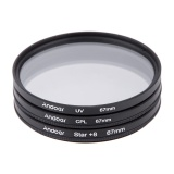 Jual Andoer 67Mm Filter Set Uv Cpl Star 8 Point Filter Kit With Case For Canon Nikon Sony Dslr Camera Lens Intl Not Specified Di Tiongkok