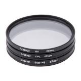 Beli Andoer 67Mm Filter Set Uv Cpl Star 8 Point Filter Kit With Case For Canon Nikon Sony Dslr Camera Lens Intl Not Specified Online