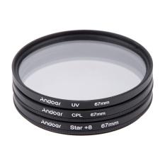 Beli Andoer 67Mm Filter Set Uv Cpl Star 8 Point Filter Kit With Case For Canon Nikon Sony Dslr Camera Lens Intl Di Tiongkok