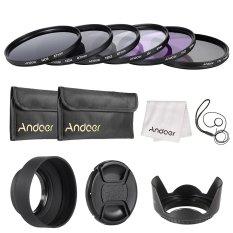 Toko Andoer 67Mm Lensa Filter Kit Uv Cpl Fld Nd Nd2 Nd4 Nd8 Dengan Carry Pouch Lens Cap Lens Cap Holder Tulip Lens Hood Kain Pembersih Outdoorfree Andoer Online
