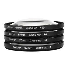 Andoer 67 Mm Penutup Makro-Up Set Filter + 1 + 2 + 4 + 10 dengan Kantong untuk Nikon D80 d90 D7000 Canon Tamron Sigma DSLR-Intl