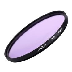 Andoer 77 Mm UV + CPL + FLD + Nd (ND2 ND4 ND8) kit Filter Fotografi Set Ultraviolet Circular-Polarisasi Neon Kepadatan Netral Filter untuk Nikon Canon Sony Pentax DSLR-Intl