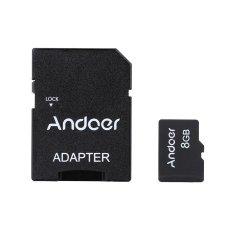 Andoer 8 GB Kelas 10 Kartu Memori Tf Kartu + Adaptor + Pembaca Kartu Flash Drive