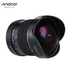 Andoer 8 Mm F/3.5 Andoer Ultra Wide Fisheye Definisi Tinggi Aspherical Circular Lensa untuk Canon Eos Kamera DSLR-Penuh bingkai Kompatibel-Intl