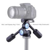 Dapatkan Segera Andoer A 60 Dual Handle 360 Derajat Kamera Video Kepala Fotografi Aluminium Paduan 3 Way Panoramic Damping Head Max Beban 5 Kg 11Lb Intl
