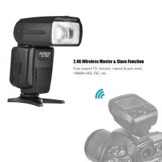 Andoer AD-980IIIC E-TTL Master Slave Flash Speedlite 1/8000 S HSS Built-In 2.4G Sistem Flash Nirkabel 2.9 S Waktu Daur Ulang Manual & Auto Zoom GN58 untuk Canon Kamera Seri-Intl
