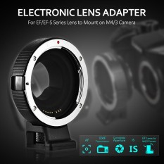 Andoer AEF-MFT Lens Mount Adapter Ring AF Auto Focus IS Stabilization Aperture Control for Canon EF/EF-S Lens to M4/3 Camera for Panasonic GH5 GH3 GH4 GX7 GF5 GF6 GX1 GM for Olympus PL5 PL6 OM-D E-M5 E-M1 - intl