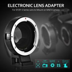 Andoer AEF-MFT Lensa Adaptor Dudukan Cincin Fokus Otomatis AF Adalah Stabilisasi Aperture Control untuk Canon EF/EF-S Lensa untuk M4/3 kamera untuk Panasonic GH5 GH3 GH4 GX7 GF5 GF6 GX1 GM untuk Olympus PL5 PL6 OM-D E-M5 E-M1-Intl