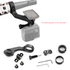 Andoer Bike Mount Holder Handle Bar Komputer Mount Kit 25.4mm/31.8mm untuk CATEYE CC-PA100W/500B CC-RD310W /410DW/420DW/430DW/500B CC-VT210W/220 W CC-MC200W CC-GL11/51 CC-PD100W untuk GoPro/ Sony/Garmin VIRB X & XE untuk SJ Cam Aksi Kamera Outdoorfree