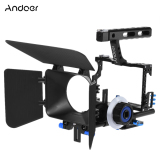 Spesifikasi Andoer C500 Aluminium Paduan Kamera Camcorder Video Film Sistem Pembuatan Kandang Tali Temali Kit With 15Mm Batang Mate Kotak Ikuti Fokus Pegangan For Panasonic Gh4 For Sony A7S A7 A7R A7Rii A7Sii Internasional Bagus