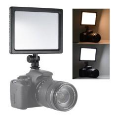 Andoer CM-180D 12 W Dimmable Bi-warna 3200 K-5600 K Lampu Video Lampu Panel W/Layar LCD untuk Perkakas Bertualang DSLR ildc Kamera Camcorder untuk Anak Kecil Sayang Pernikahan Wawancara Photogrpahy-Intl