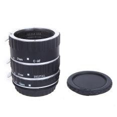 Andoer logam warna-warna-warni TTL AF makro fokus otomatis tabung ekstensi cincin untuk Canon EOS EF-S 60D 7D 5D II 550D Perak