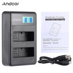 Andoer EN-EL14 EN-EL14A Charger Isi Ulang Paket Tampilan LED 2 Slot Kabel USB Kit untuk Nikon D3100 D3200 D3300 D5100 D5200 D5300 D5500 DF Coolpix P7000 P7100 P7700 P7800 DSLR Kamera-Internasional