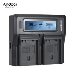 Andoer EN-EL15 Dual Channel Digital Camera Charger w/ LCD Display for Nikon D500 D610 D7000 D7100 D750 D800 D810 D7200 - intl