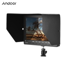 Andoer FR7764S 7inch 1920 * 1200 IPS Screen Video Camera Field Monitor Display with HD VGA AV Earphone IN Support 4K Signal for Canon Nikon Sony Panasonic DSLR - intl