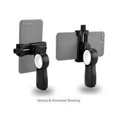 Andoer HC1 Smartphone Action Camera Hand Grip Stand Handle Holder Stabilizer Phone Tripod Mount for iPhone X 8 7plus 7s 7 6 for Samsung Huawei for GoPro Hero 6 5 4 3+ 3 Yi 4K - intl
