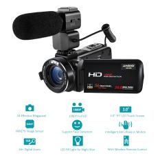 Andoer HDV-Z20 1080 P Full HD 24MP WiFi Digital Video Kamera Camcorder dengan Mikrofon Eksternal 3.0