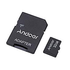 Andoer kartu memori disebut TF Class10 32 GB + Adaptor + pembaca kartu USB Flash Drive
