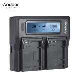 Promo Andoer Lp E17 Dual Channel Kamera Digital Charger W Lcd Display Untuk Canon 750D 760D Rebel T6I T6S Eos M3 M5 M6 800D 77D Intl