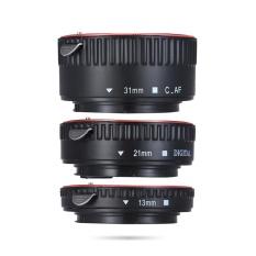 Andoer Macro Sambungan Tabung Set 3-piece 13mm 21mm 31mm Auto Fokus Sambungan Cincin Tabung untuk Bodi Kamera dan Lensa 35mm SLR Kompatibel untuk Canon Semua EF dan Ef-s Lensa-Intl