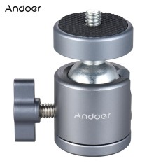 Review Andoer Mini Tripod Metal Ball Head Adapter Ballhead Mount With 1 4 Scr*w 1 4 Scr*w Hole Intl Andoer