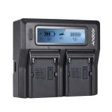 Spesifikasi Andoer Np F970 Dual Channel Kamera Digital Charger Dengan Display Lcd Untuk Sony Np F550 F750 F950 Np Fm50 Fm500H Qm71 Intl Lengkap Dengan Harga
