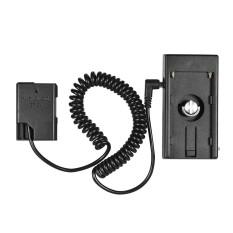 Andoer NP-F970 untuk EN-EL14 Dummy Piring Dudukan Adaptor Musim Semi Kabel untuk Nikon D5600 D5500 D5300 D5200 D5100 D3100 D3200 D3300 d3400-Internasional