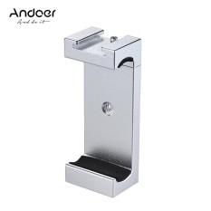 Andoer Telepon Tripod Mount Adaptor Bracket Holder Clip dengan Sepatu Dingin untuk IPhone X 8 7 6 S 6 5 Plus untuk Samsung Sony Smartphone-Intl