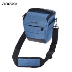 Andoer Portable DSLR Camera Shoulder Bag Sleek Polyester Camera Case for 1 Camera 1 Lens and Small Accessories for Canon Nikon Sony Fujifilm Olympus Panasonic