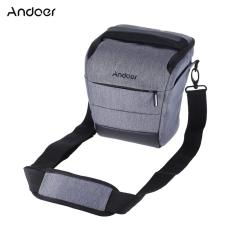 Andoer DSLR Portabel Kamera Tas Bahu Ramping Polyester Kamera untuk 1 Kamera 1 Lensa dan Aksesoris untuk Perkakas Bertualang Fujifilm Olympus Panasonic -Intl