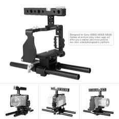 Andoer Profesional Pelindung Kamera Video Set Rig Pembuatan Film System W/15 Mm Rod untuk Sony A6000 A6300 A6500 Ildc Kamera Mirrorless Camcorder -Intl